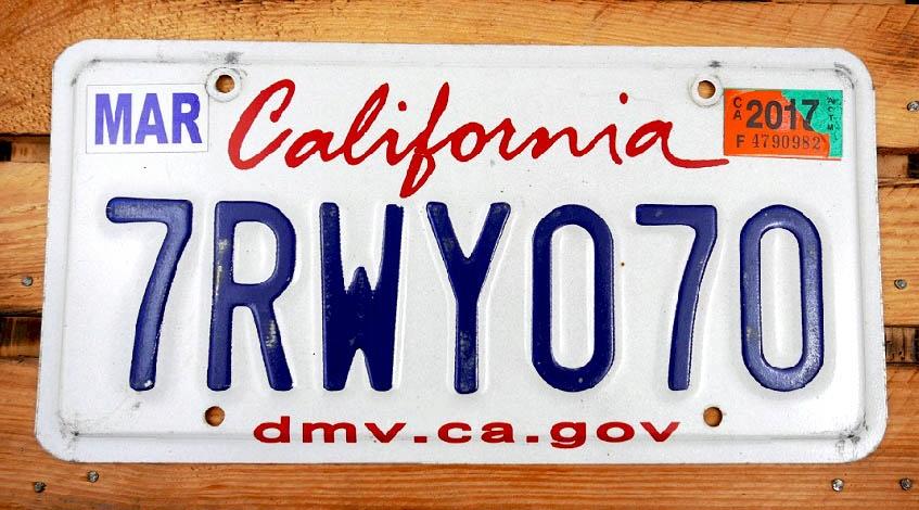 California Dmv Ca Gov Tablica Rejestracyjna Usa 8496302822 Oficjalne Archiwum Allegro