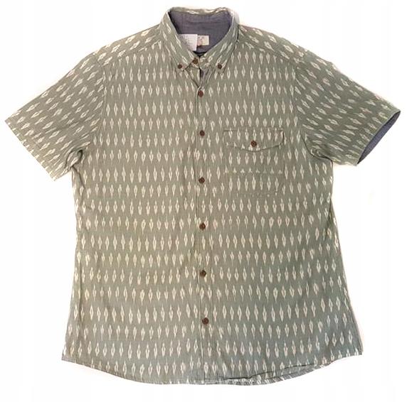 2794 NEXT zielona wzorzysta koszula casual L