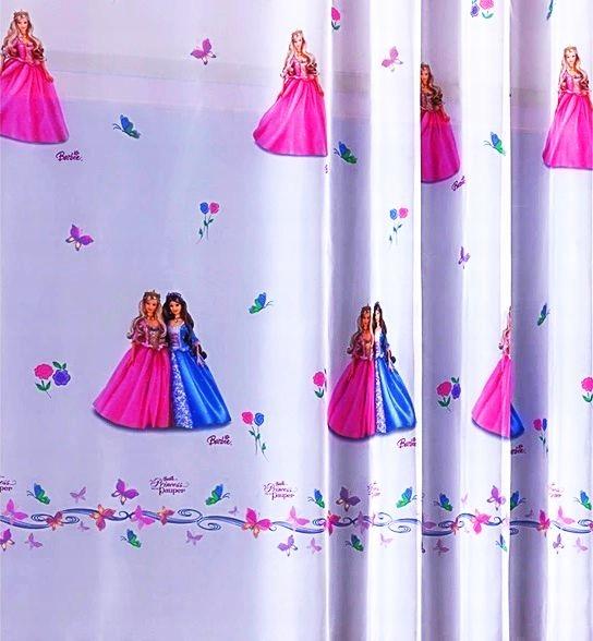 Gotowa firana woal dla dziewczynki Barbie Disney