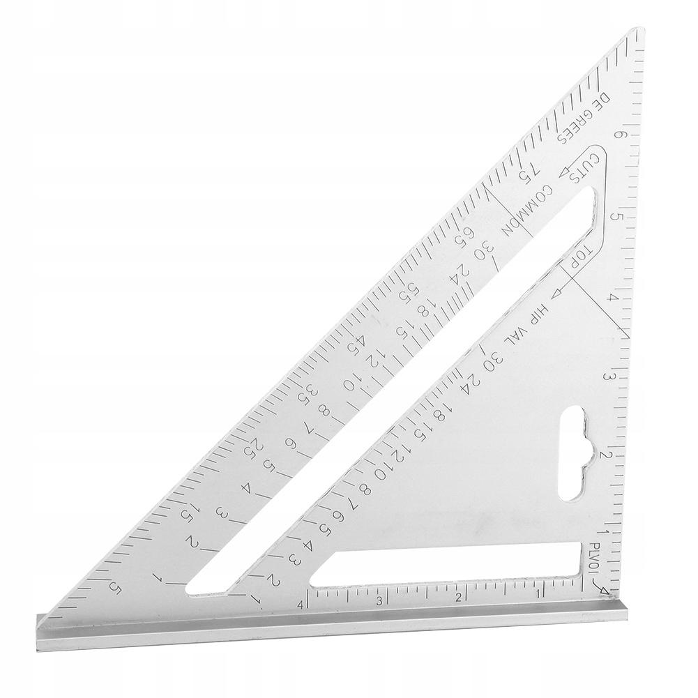 linijka 45 stopni metal praktyczna 26cm*19cm