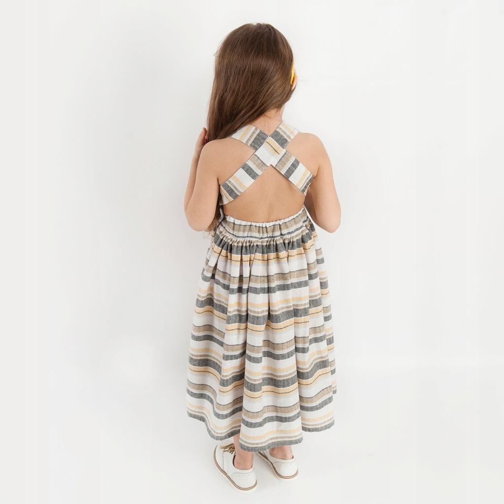 Sukienka 98 104 Mamunio Zara w paski len