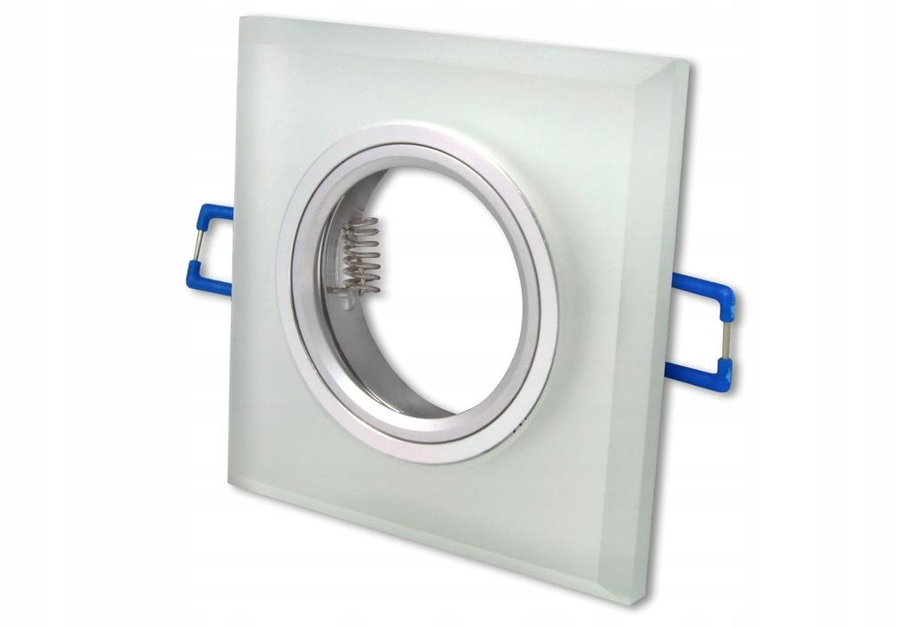 Oprawa sufitowa halogenowa LED GU10 MR16 szklana