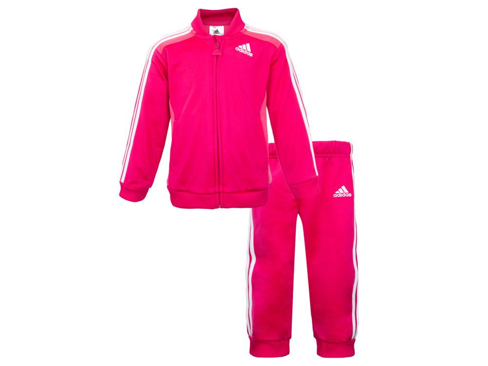 różowy KOMPLET dziecięcy ADIDAS DRES spodnie bluza