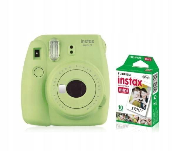 Fujifilm Aparat Instax Mini 9 zielony + wkład 10 s