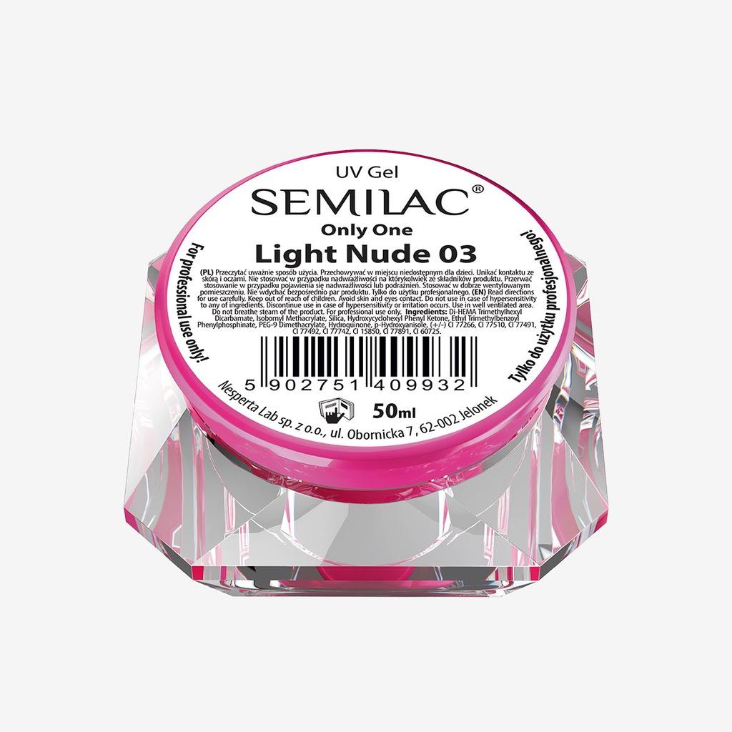 SEMILAC ŻEL - GEL ONLY ONE LIGHT NUDE 03 - 50 ML