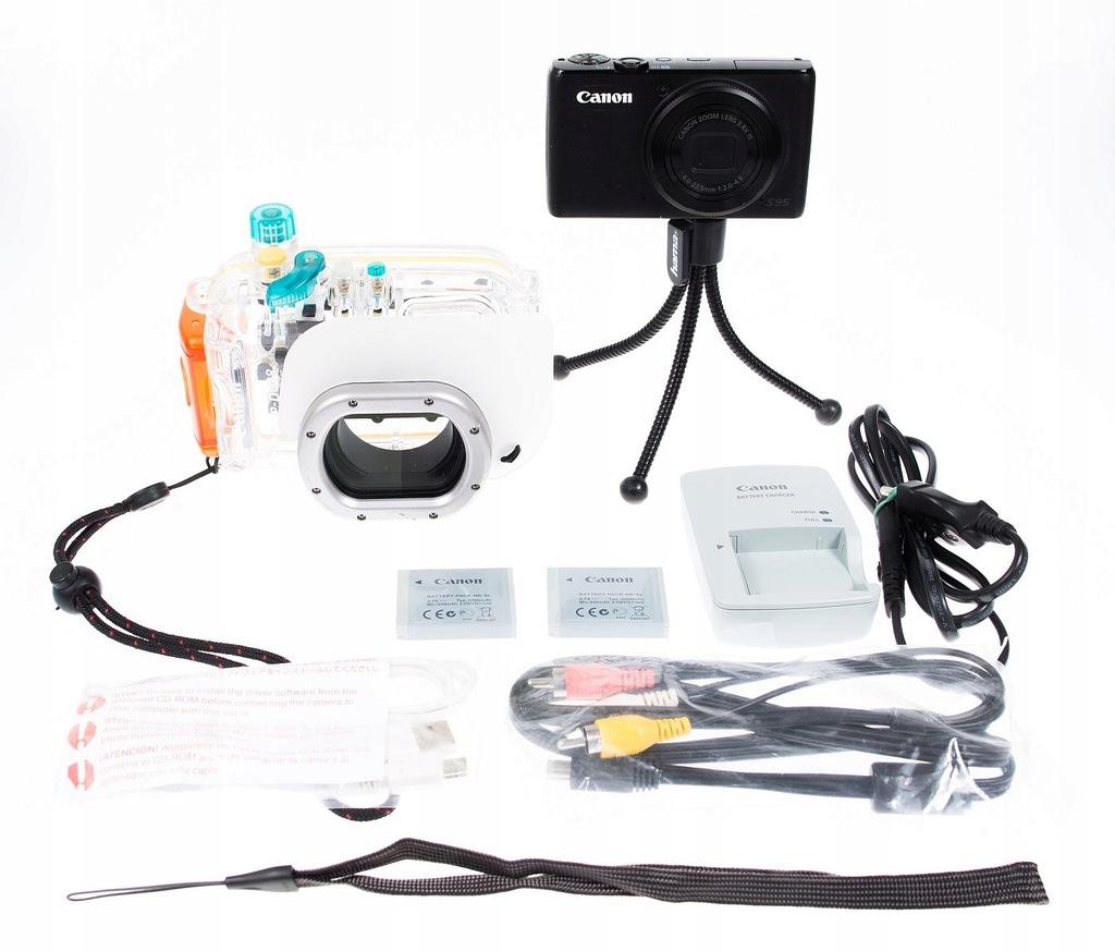 Canon S95 + obudowa podwodna oryginał WP-DC38 Raw