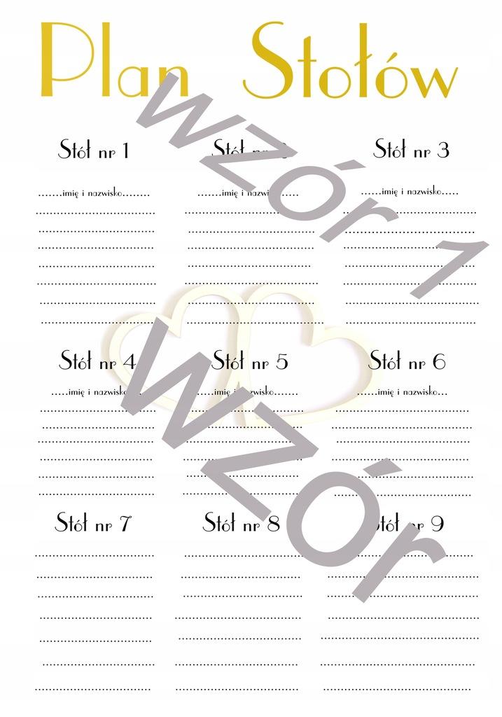 Plakat napis Plan stołów wesele A1 60X84