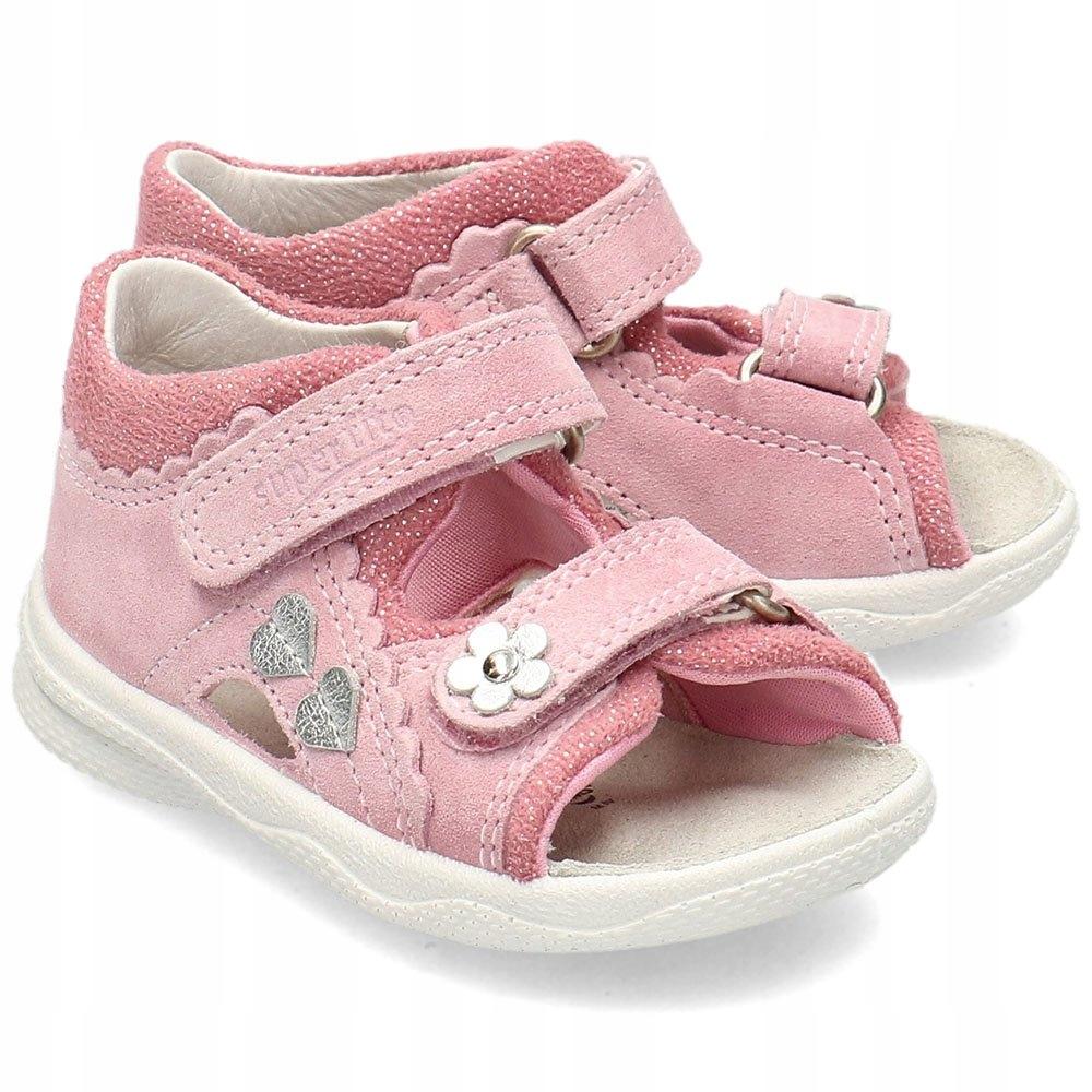 Superfit Różowe Sandały Dziecięce Rzepy R.22