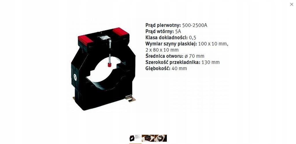 Przekładnik prądowy Lumel ASK 101.4 500/5A