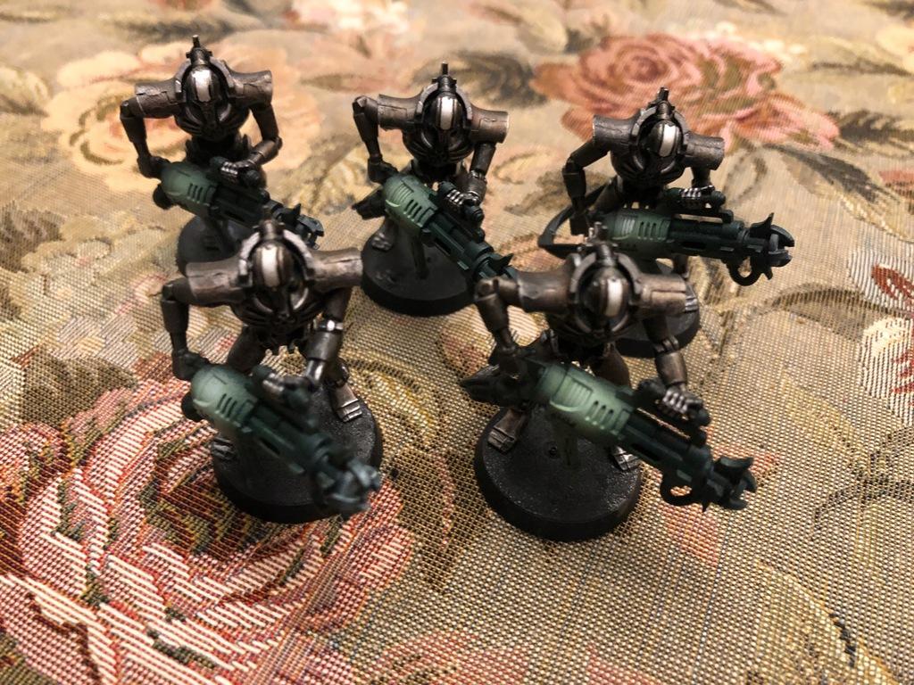 Warhammer 40000 Necronc Immortals Pomalowane