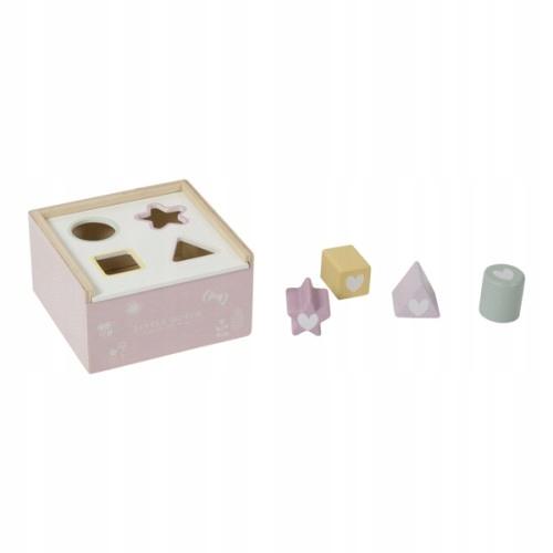 Little Dutch sorter kształtów drewniany różowy