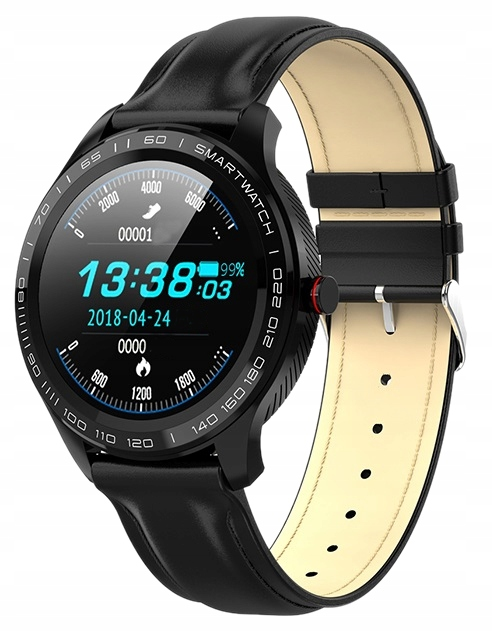 Smartwatch Garett Men 3S RT czarny skorzany