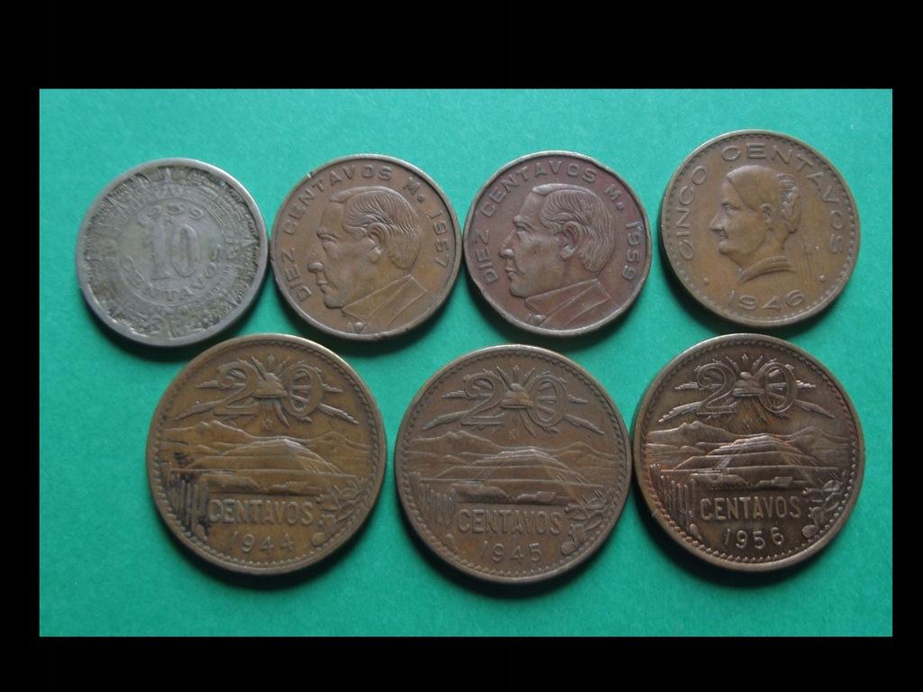 Zestaw monet 1939 - 56 - MEKSYK