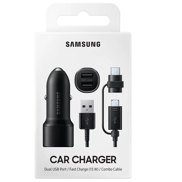 Ładowarka samochodowa Samsung EP-L1100WB 15W + USB