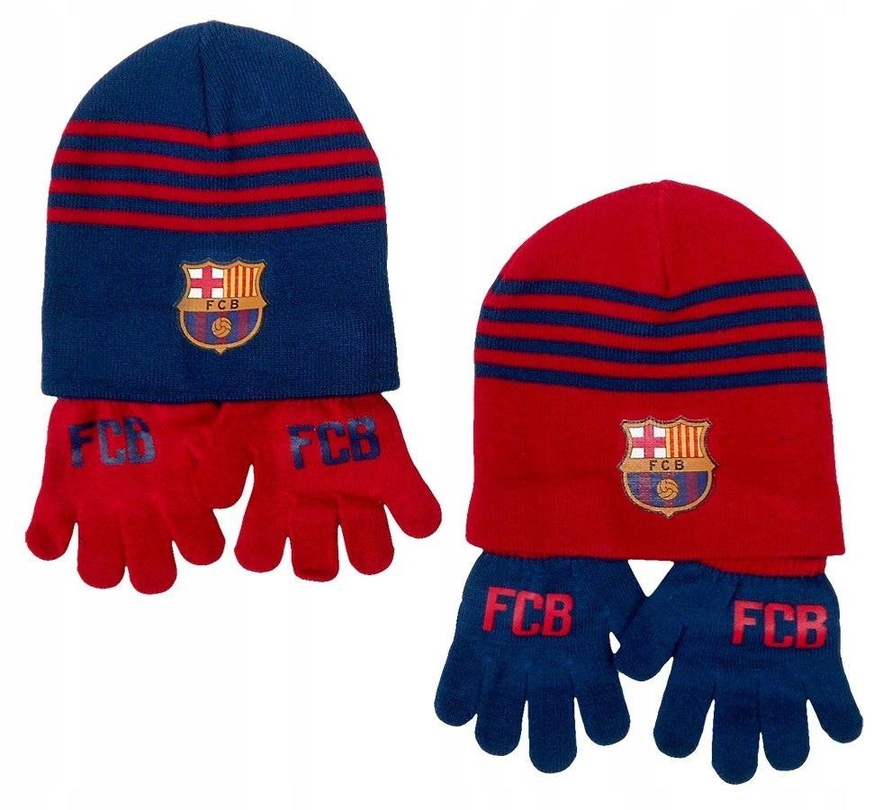 Komplet: czapka jesienna / zimowa + rękawiczki FC