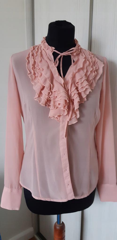 MOHITO, bladoróżowa koszula z żabotem, rozm.36