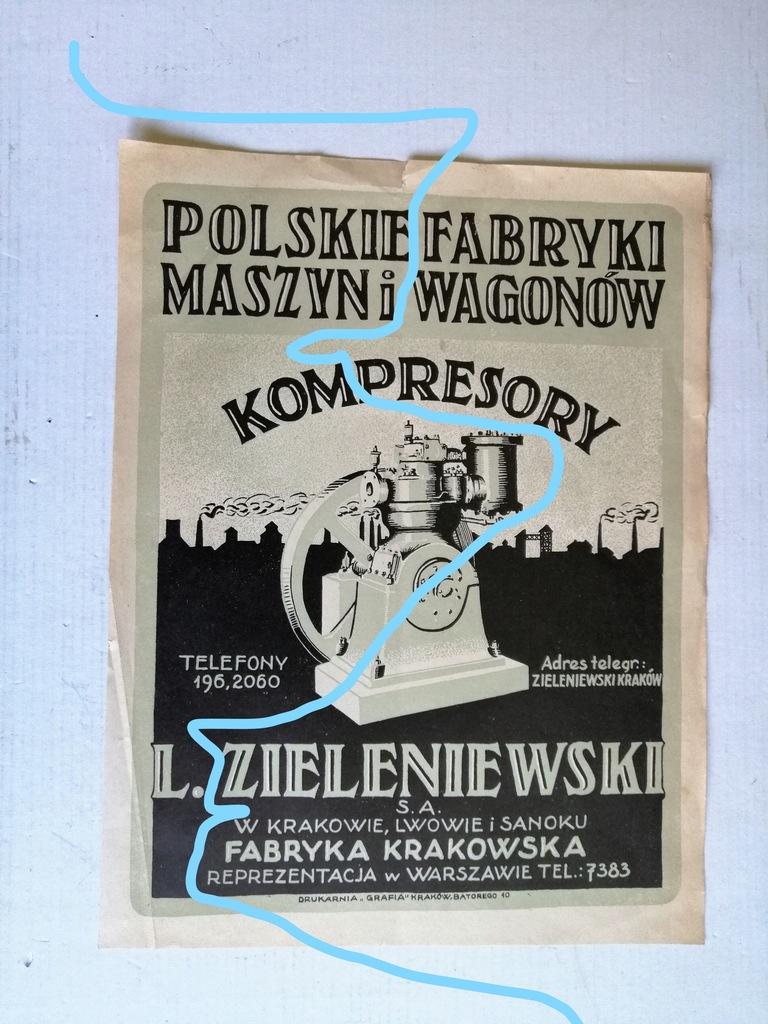 Plakat-Polskie Fabryki Maszyn i Wagonów/lata 30-te