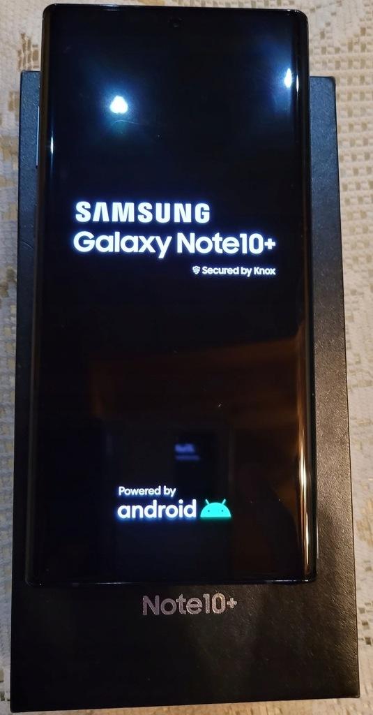 SAMSUNG GALAXY NOTE 10+ 256GB BLACK KOMPLET GWARAN