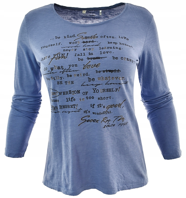 tBR2705 niebieska bluzka z nadrukiem 40