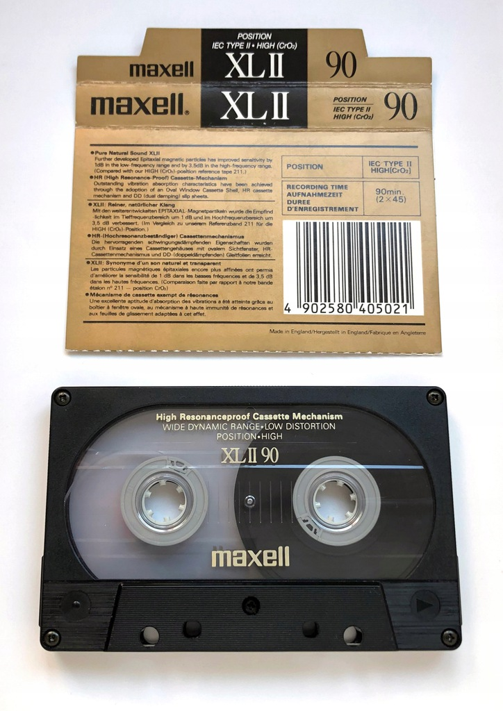 Maxell XL II 90 kaseta 88-89