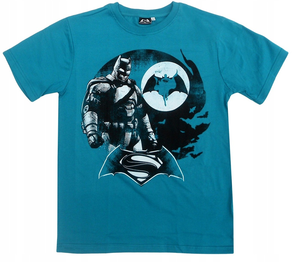 T-shirt męski Batman vs Spiderman : Rozmiar: - M