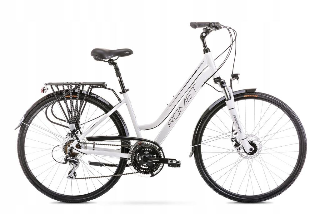 Rower Romet Gazela 4 Biało-czarny 19