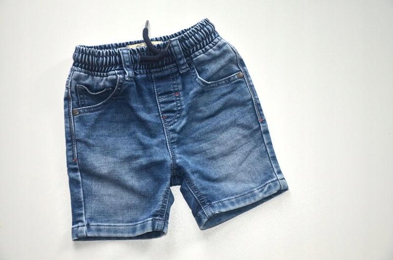 Krótkie spodenki bawełniane jeans Next 92 cm