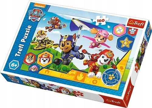 Trefl Puzzle 160 elementów Psi Patrol, Gotowi do p