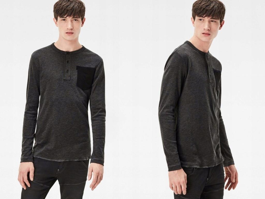 G-STAR Bluzka męska na guziki z kieszonką XL
