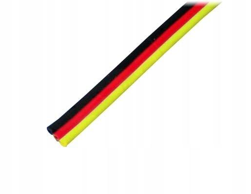 Przewód serwa trójżyłowy 3 x 0,20 mm/1 mb płaski (