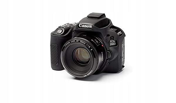 Zbroja Osłona gumowa dla Canon 200D czarna