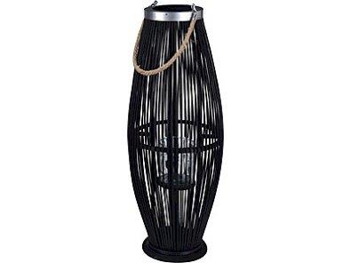 Lampion bambusowy 29x72 cm z wkładem szklanym