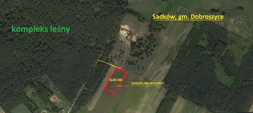 Działka, Sadków, Dobroszyce (gm.), 6500 m²