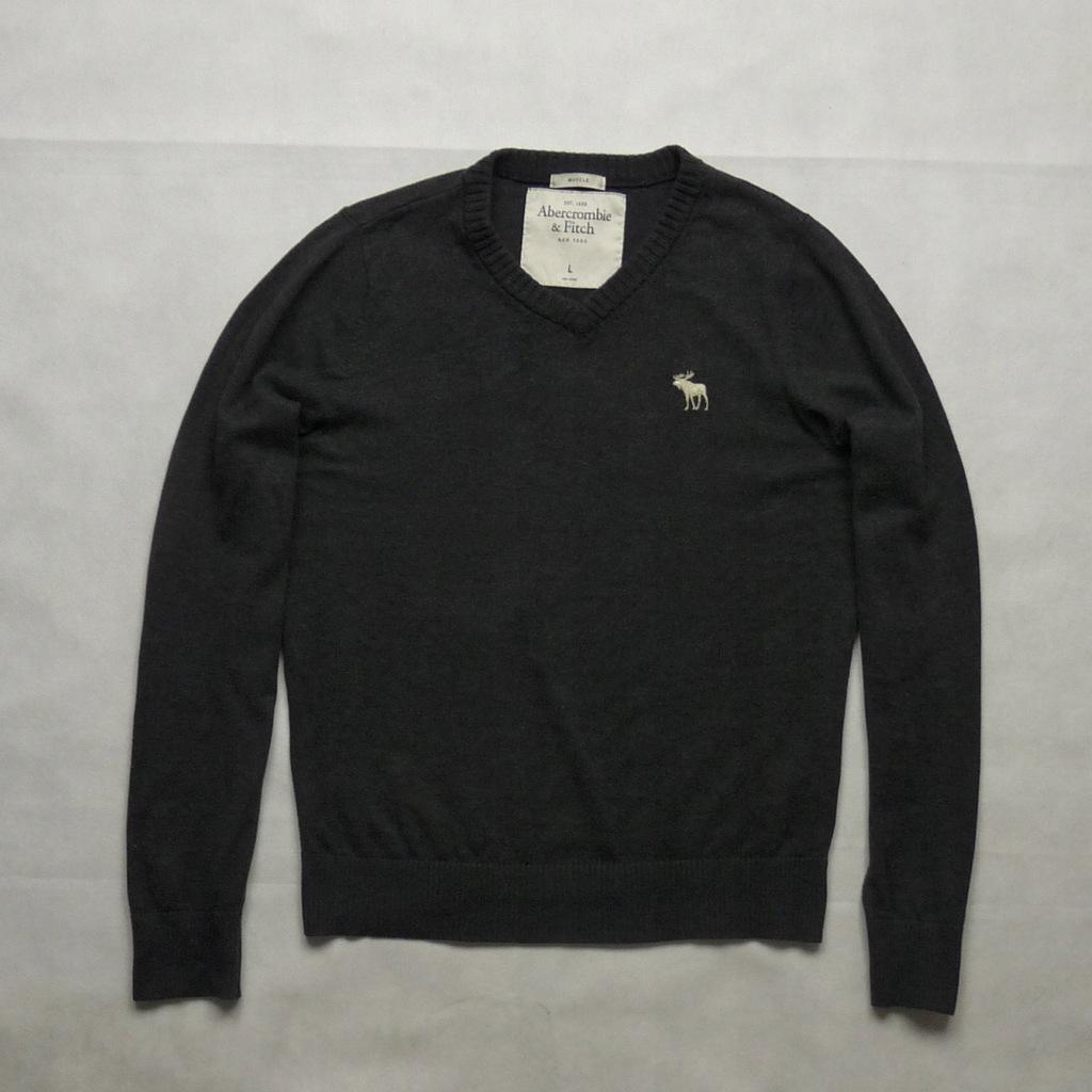 Abercrombie&Fitch szary sweter wełna kaszmir L