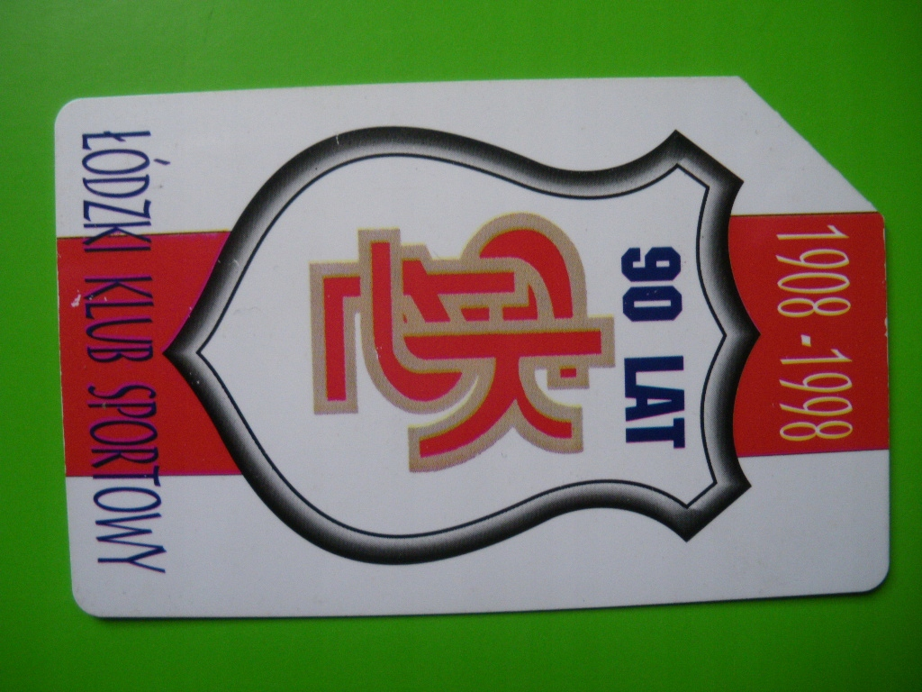 1908-1998 90 Lat ŁKS Łódzki Klub Sportowy Karta t