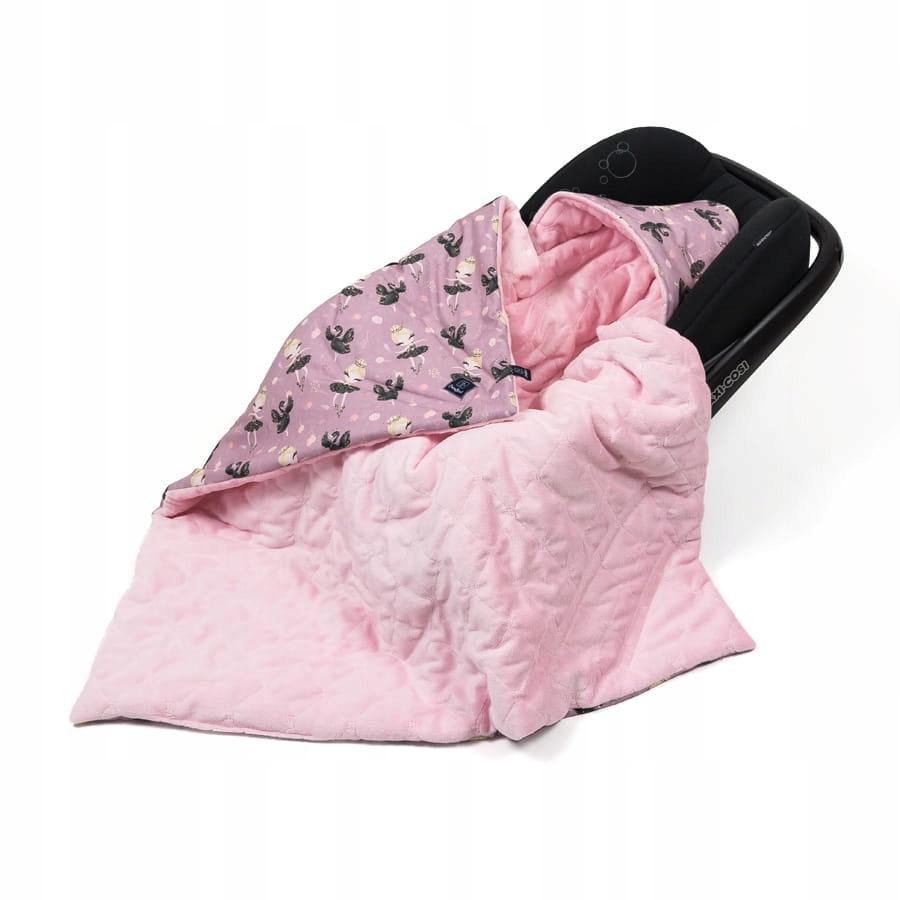 Kocyk LIGHT do fotelika Baleriny Bright pink letni