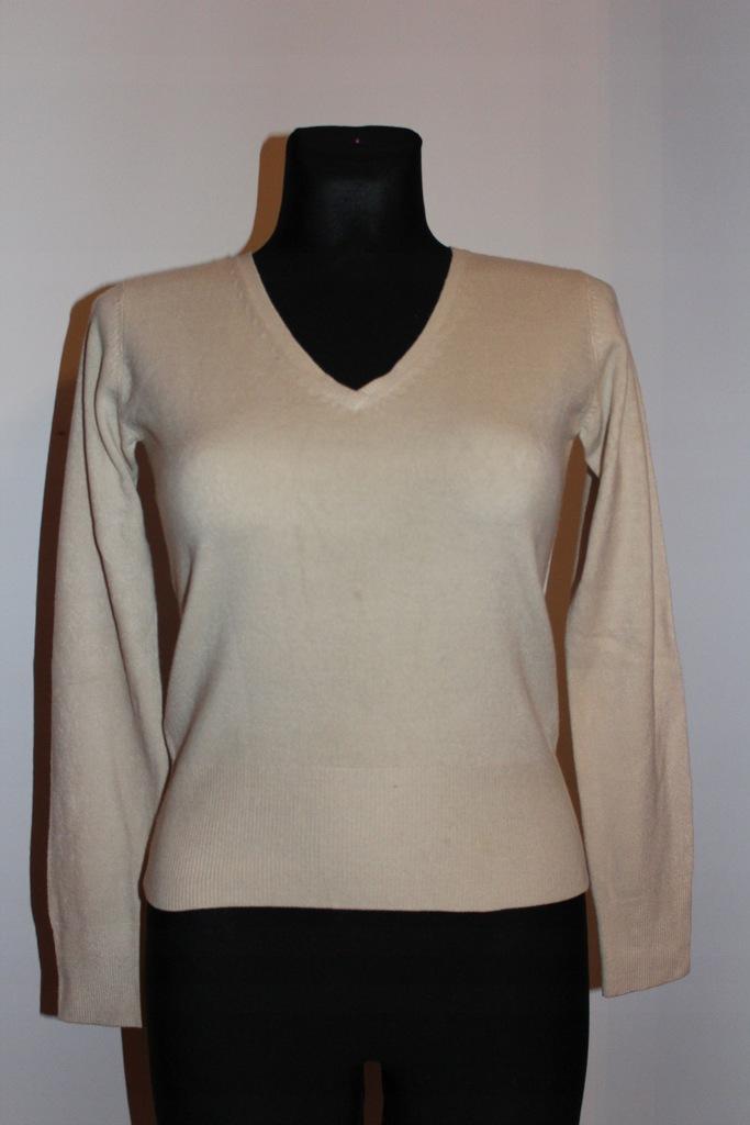Next Petite kremowy jasny sweterek 34 XS