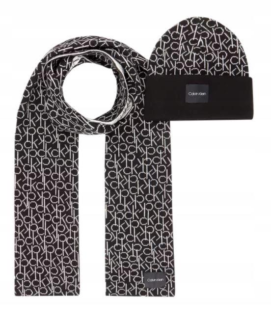 Calvin Klein czapka+szalik K50K504136 001 czarny K