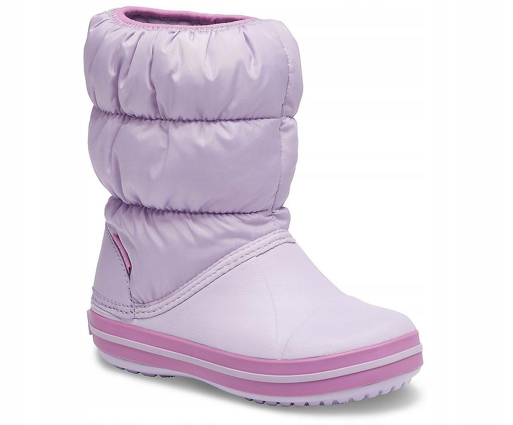dziecięce buty Crocs Winter Puff Boot - Lavender
