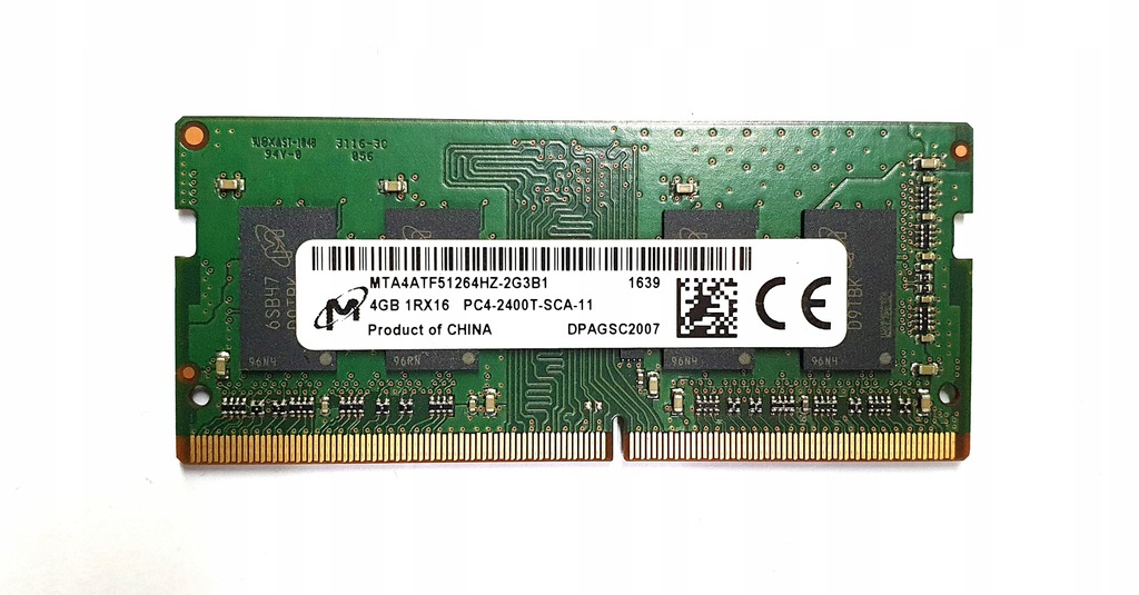 Micron DDR4 SODIMM 4GB 2400MHz CL17 1.2V 1Rx16 pc4