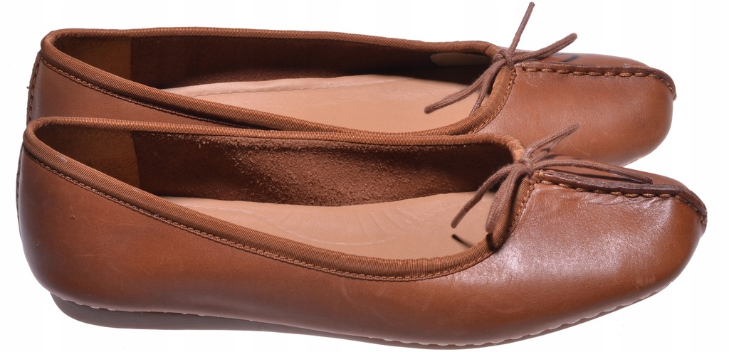 BALERINY CLARKS - Freckle Ice Dark Tan Lea 37