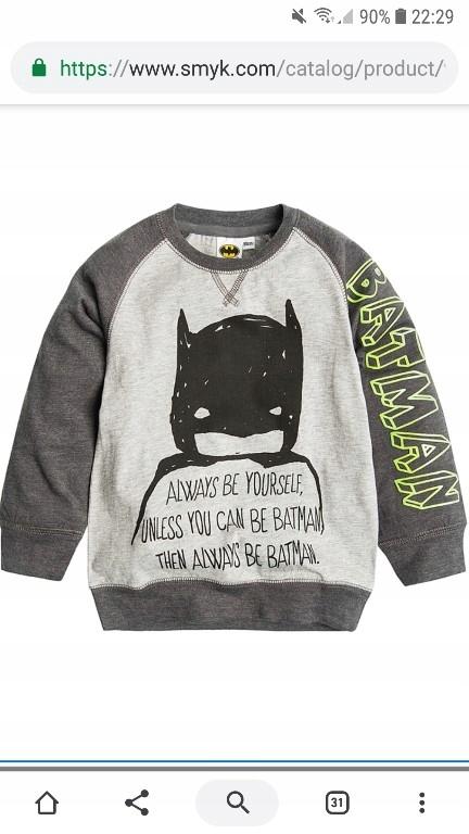 Cool Club Bluzka chłopięca z dł rękaw Batman 110