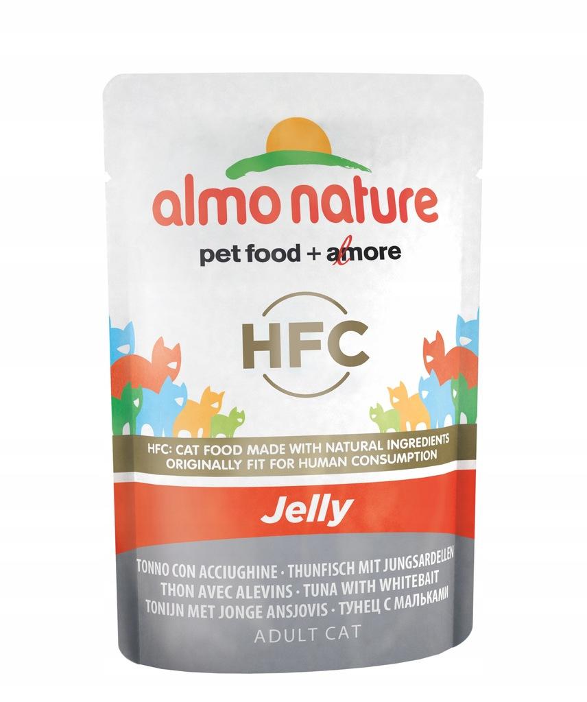 ALMO NATURE HFC Jelly - tuńczyk i sardynki 55 g
