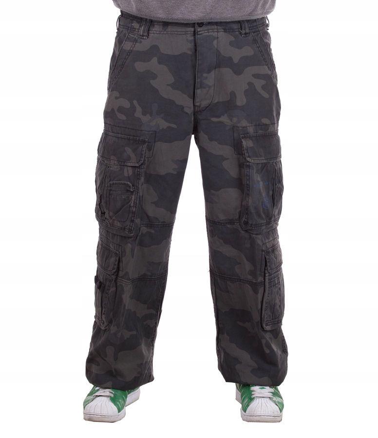 Spodnie BRANDIT Pure Vintage Black Camo XL
