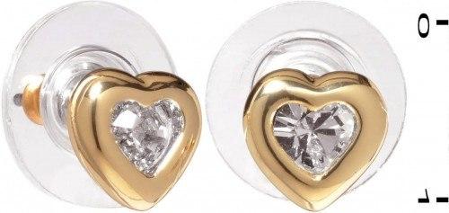 Colibra Kolczyki serca z kryształem Swarovski