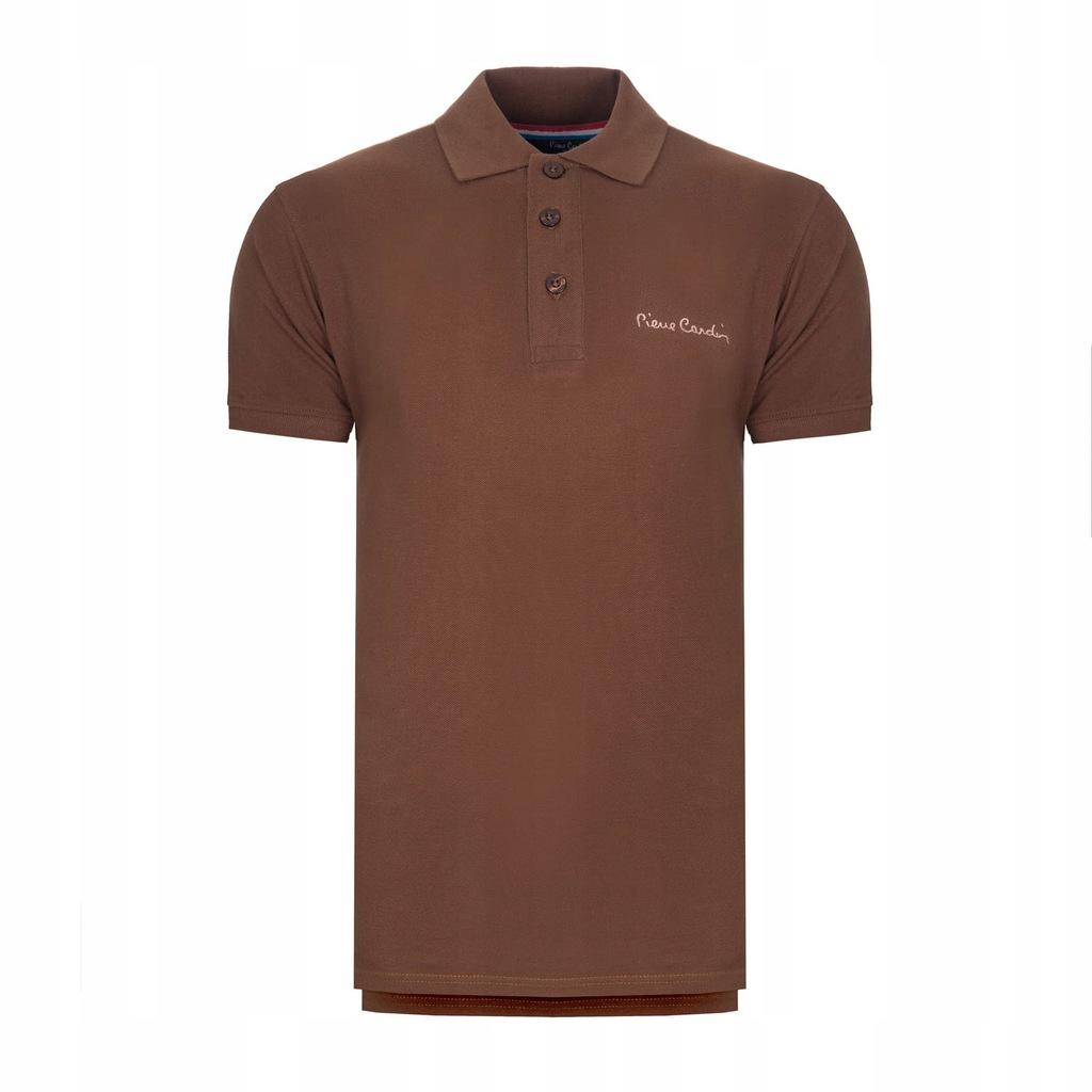 Koszulka polówka POLO PIERRE CARDIN brązowe S