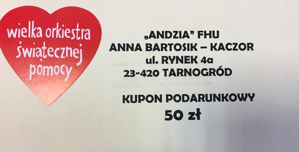 Kupon podarunkowy 50 zł od ANDZI