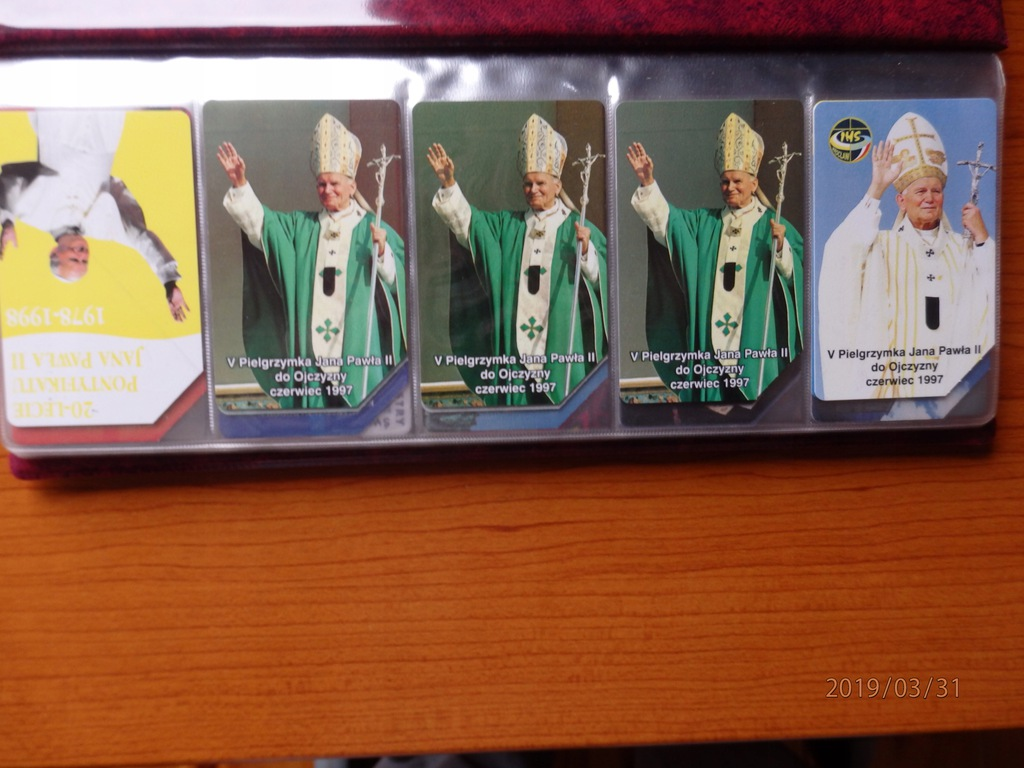 Karta telefoniczna - 5szt. Papież Jan Paweł II (3)