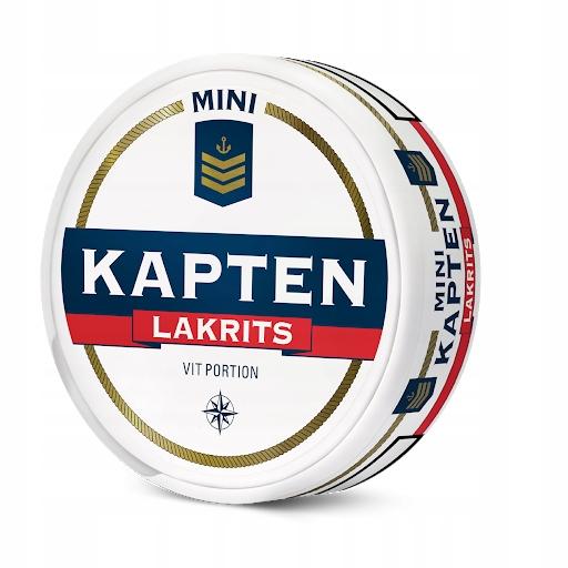 Kapten lakrits mini- pudelka do kolekcji od snus