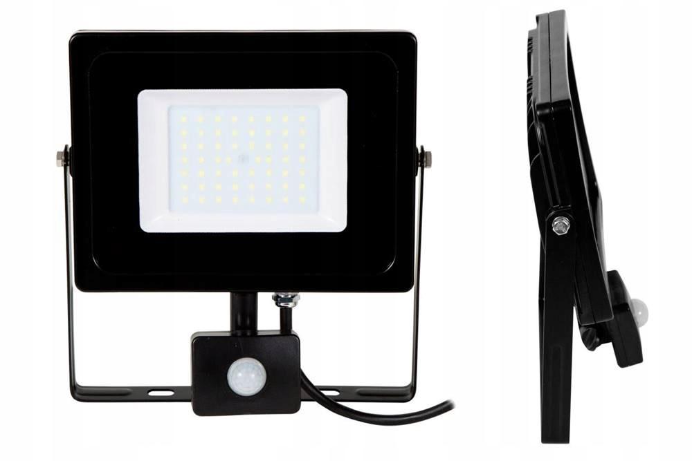 Naświetlacz LED SLIM 50W CZUJNIK ruchu i zmierzchu